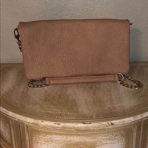 Nude Express Fold-over Clutch